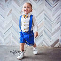 Charlie Shorts Set (Royal Blue & Gold)