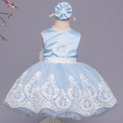 Huda Dress (Blue & White)