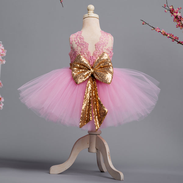 Princess Aisha Dress (Pink & Gold)
