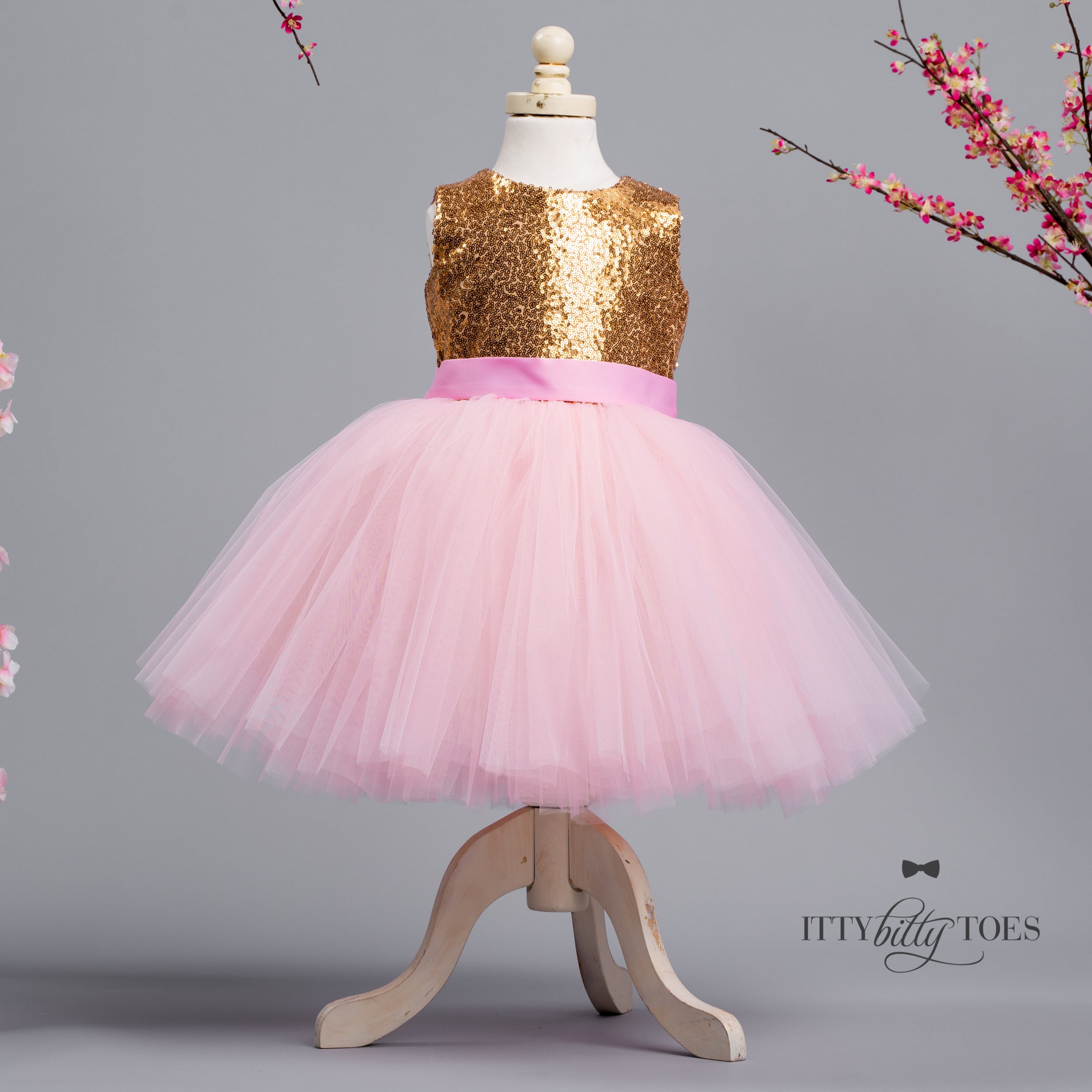 Princess Kate Dress (Gold & Pink)