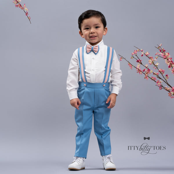 Christiano Suspenders Set (Blue & Pink)