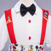 Mickey Mouse Inspired Suspenders Set