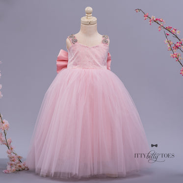 Bianca Dress (Long & Pink)