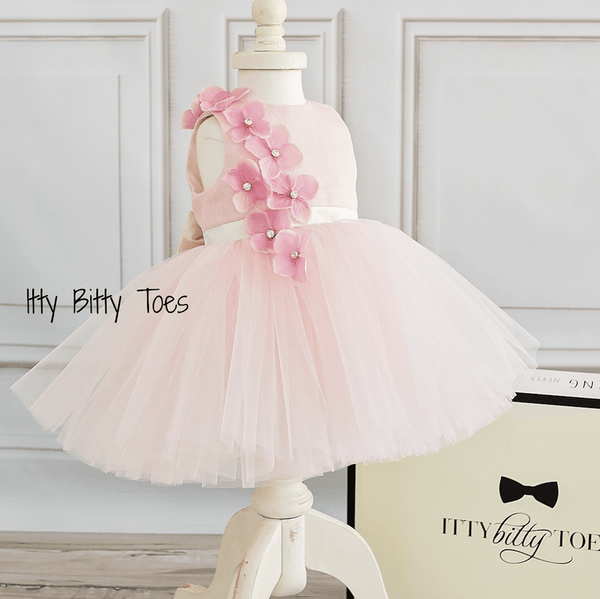ad89f49a03d8 Angel Dress (Pink) - Couture - Itty Bitty Toes