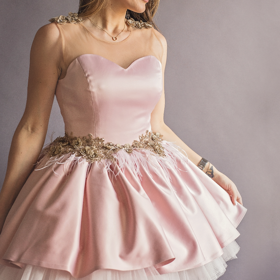 Mommy Blush Swan Dress - Couture - Itty Bitty Toes