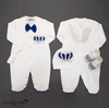 Angel Wings Jewels Set (Royal Blue) - Newborn Set - Itty Bitty Toes