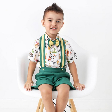 Animal Kingdom Suspender Set - Couture - Itty Bitty Toes