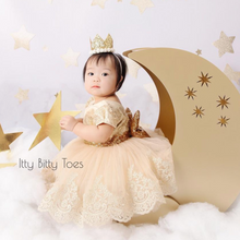 Tisha Dress (Gold) - Couture - Itty Bitty Toes