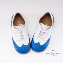 Blue & White Oxfords (Faux)