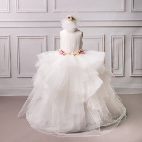 Victoria Gown (White) - Couture - Itty Bitty Toes