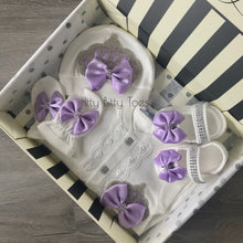Angel Wings Jewels Set (Purple) - Newborn Set - Itty Bitty Toes