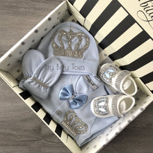 Angel Wings Jewels Set (Solid Blue) - Newborn Set - Itty Bitty Toes
