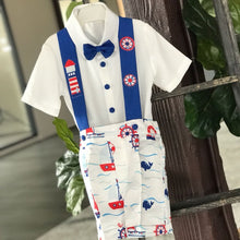 Sailor Suspender Set - Couture - Itty Bitty Toes