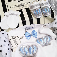 Crown Jewels Set (Baby Blue) - Newborn Set - Itty Bitty Toes