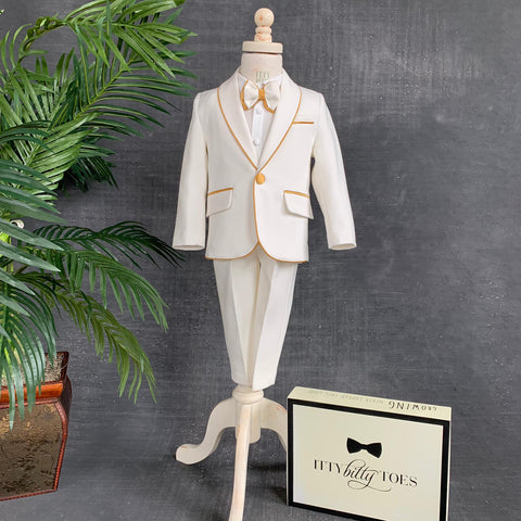 Alex Suit (Gold) - Couture - Itty Bitty Toes
