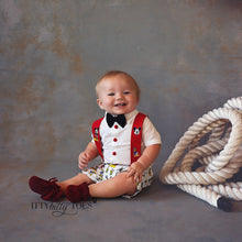 Mickey Mouse Inspired Suspenders Set - Couture - Itty Bitty Toes