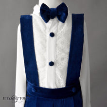 Connor Suspenders Set (Blue) - Couture - Itty Bitty Toes