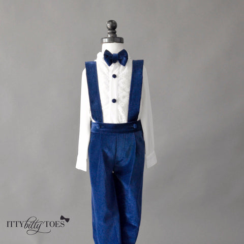 Connor Suspenders Set (Blue)