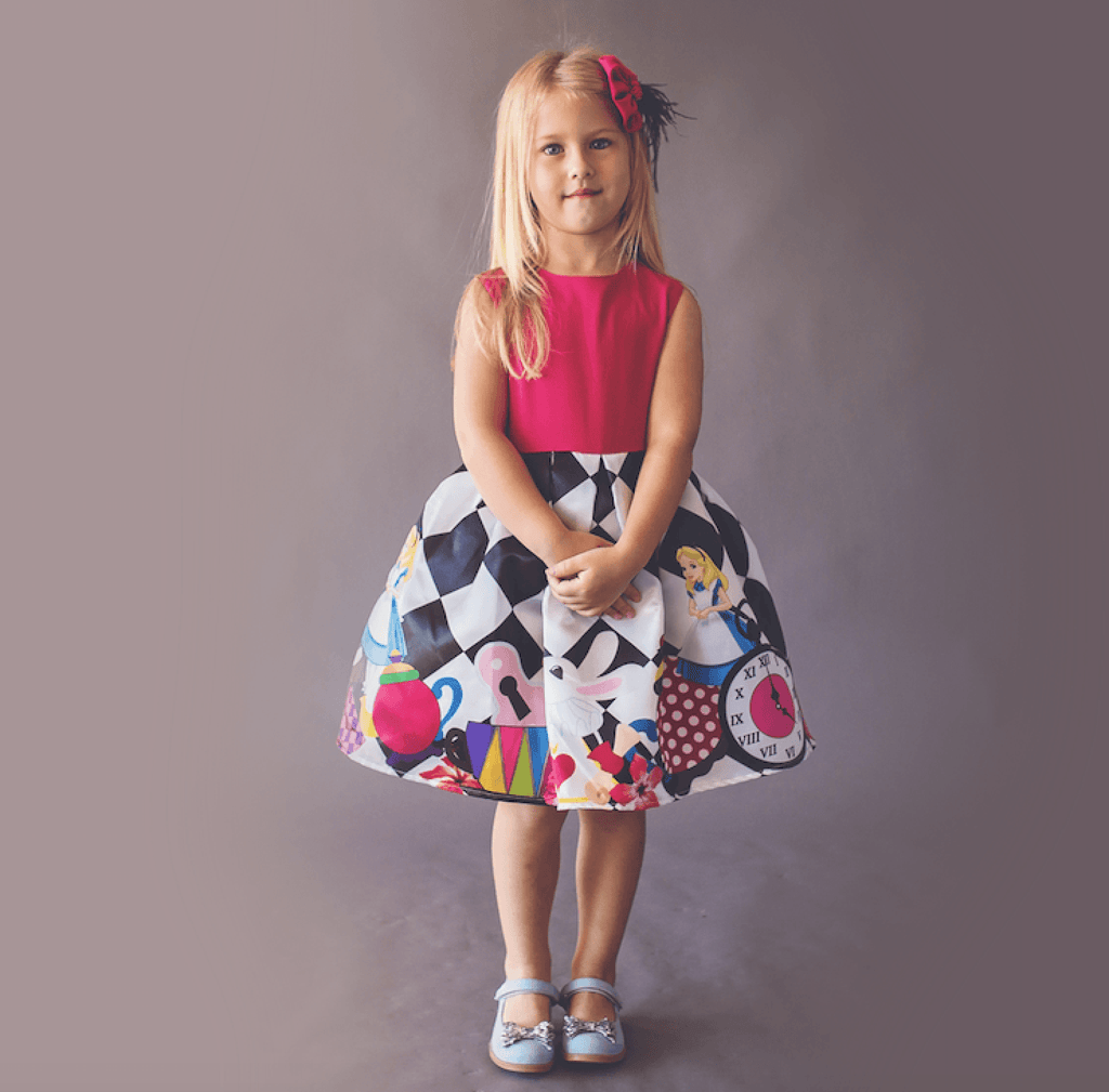 f1b7cdd8d8b Alice Inspired Dress - Couture - Itty Bitty Toes