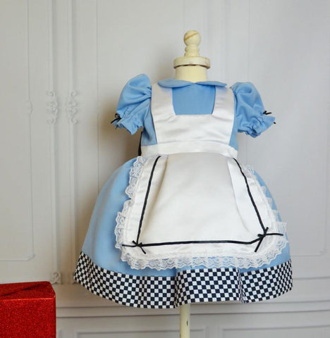 Blue Alice Dress - Itty Bitty Toes  - 1
