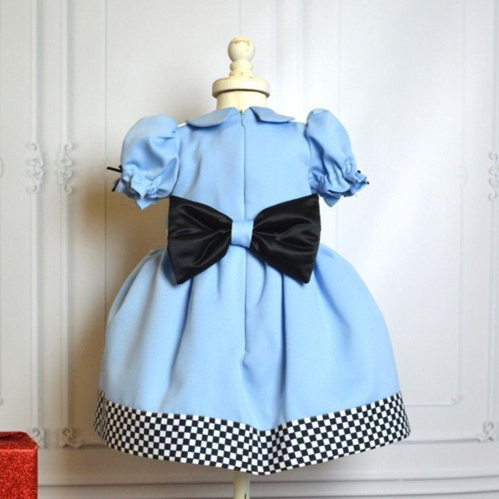 Blue Alice Dress - Couture - Itty Bitty Toes