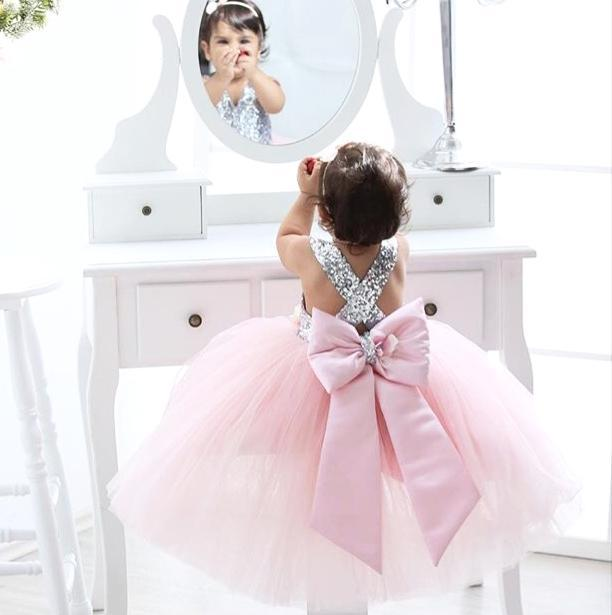 Sarafina Dress (Pink) - Couture - Itty Bitty Toes