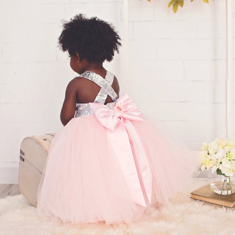 Sarafina Dress (Pink) - Itty Bitty Toes  - 2