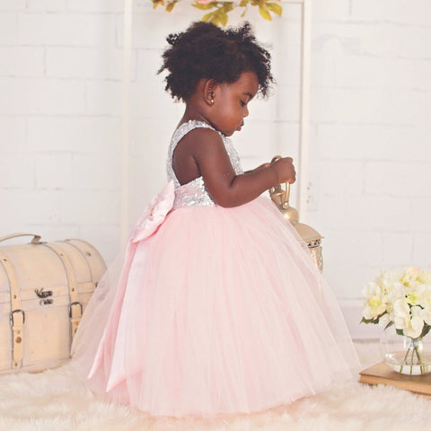 Sarafina Dress (Pink) - Itty Bitty Toes  - 4