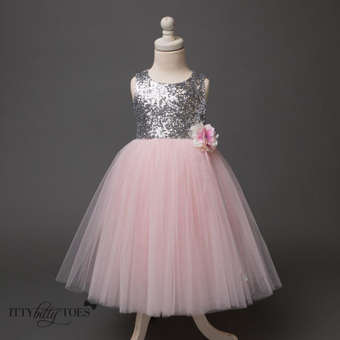 Sarafina Dress (Pink) - Itty Bitty Toes  - 8