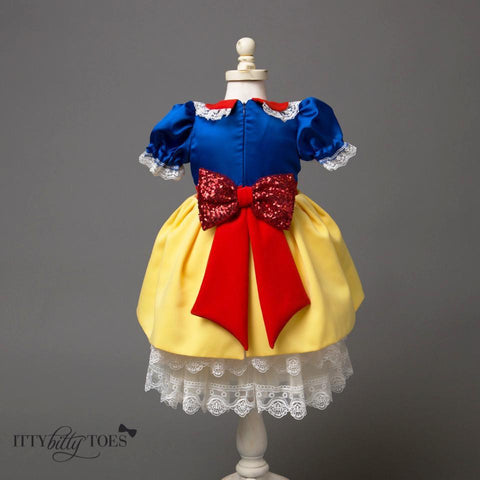 Snow White Inspired Dress - Itty Bitty Toes  - 1