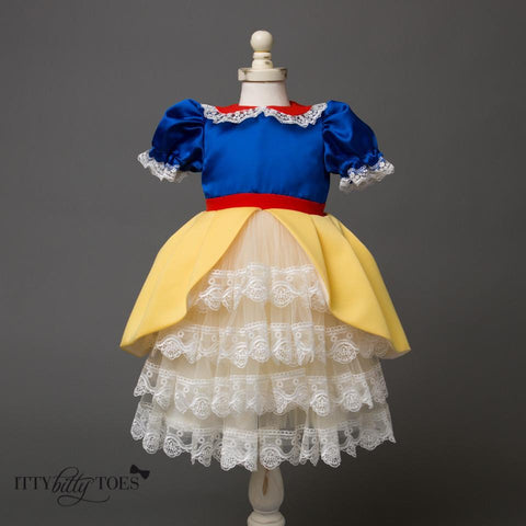 Snow White Inspired Dress - Itty Bitty Toes  - 2