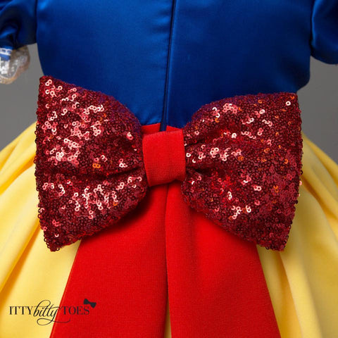 Snow White Inspired Dress - Itty Bitty Toes  - 3