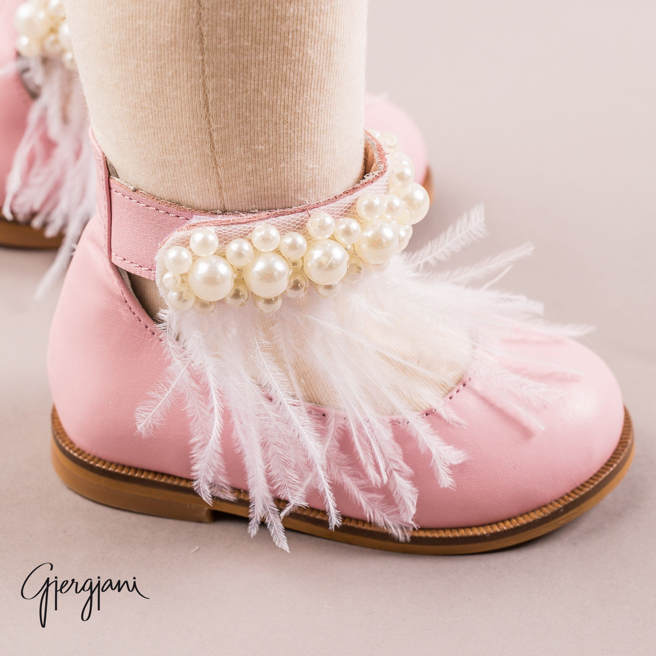 Gigi Pink Feather - Shoes - Itty Bitty Toes