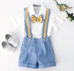 Christiano Shorts Set (Blue & Gold)