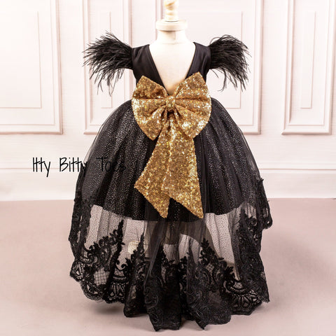 Allie Gown (Black) - Couture - Itty Bitty Toes