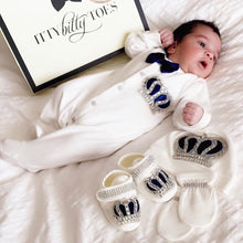 Crown Jewels Set (Royal Blue) - Newborn Set - Itty Bitty Toes