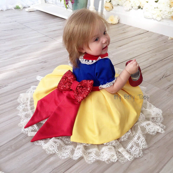 25131146e Snow White Inspired Dress - Couture - Itty Bitty Toes