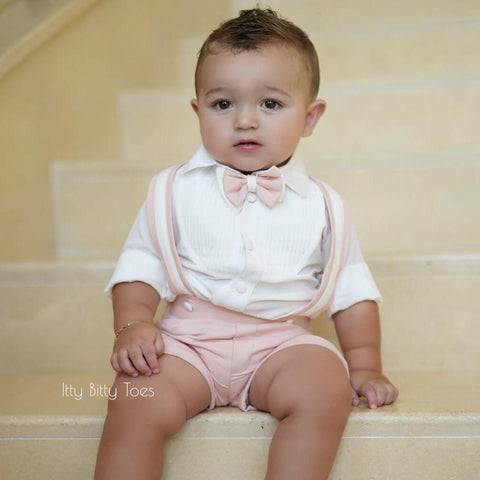 Charlie Shorts Set (Blush) - Couture - Itty Bitty Toes