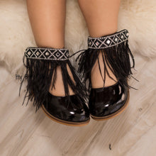 Gigi Black Feather - Shoes - Itty Bitty Toes