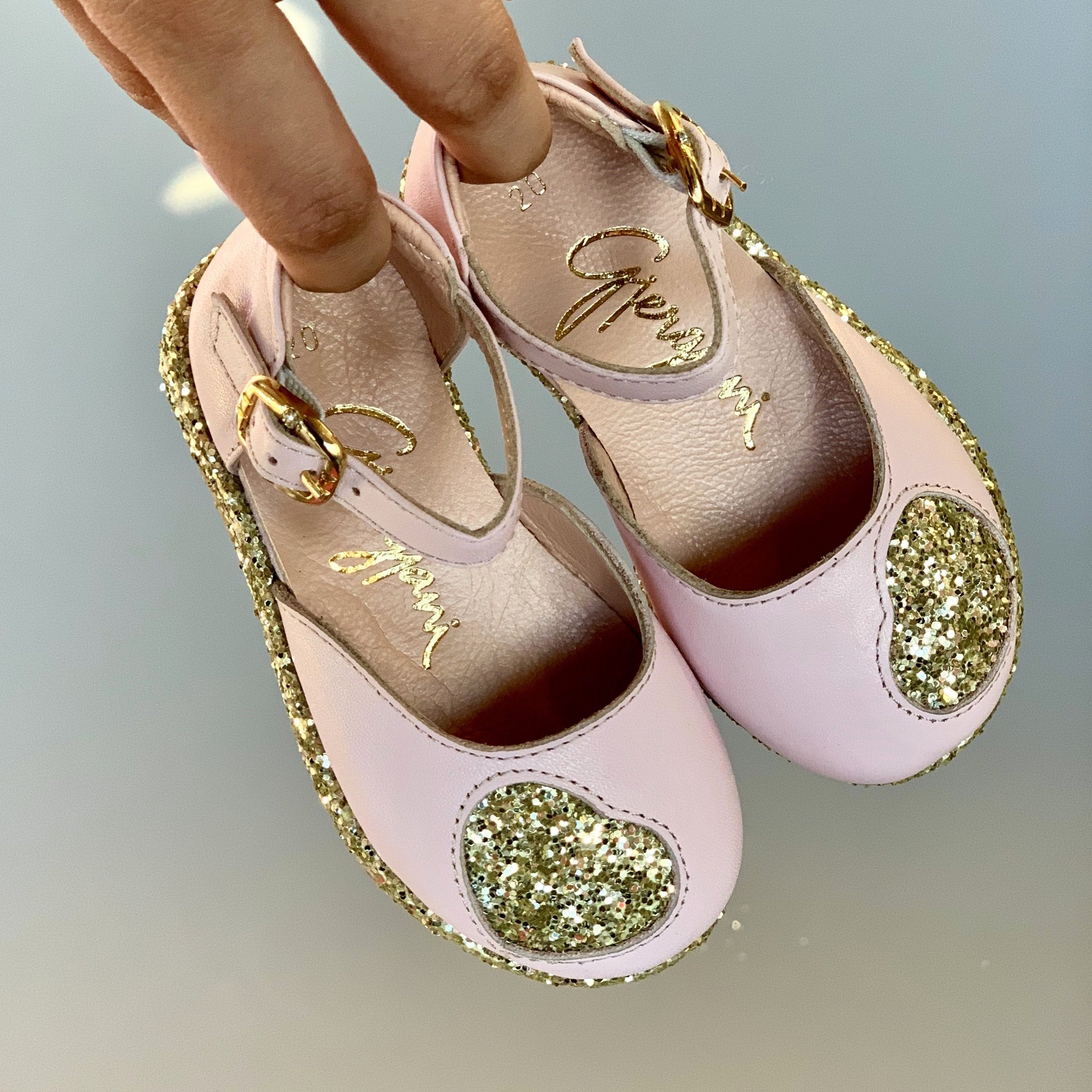 Kelli 13 (Pink & Gold) - Shoes - Itty Bitty Toes