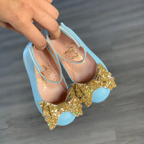 Alba 85 (Blue & Gold) - Shoes - Itty Bitty Toes