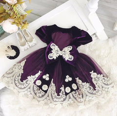 Alexandra Dress (Purple Velvet)