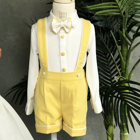 Charlie Shorts Set (Yellow) - Couture - Itty Bitty Toes