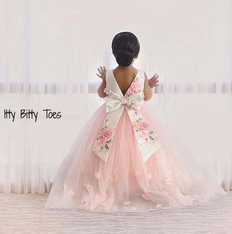 Lili Dress (Pink) - Couture - Itty Bitty Toes