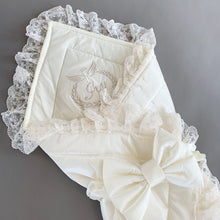 Angel Embroidered Bow Blanket - Newborn Set - Itty Bitty Toes