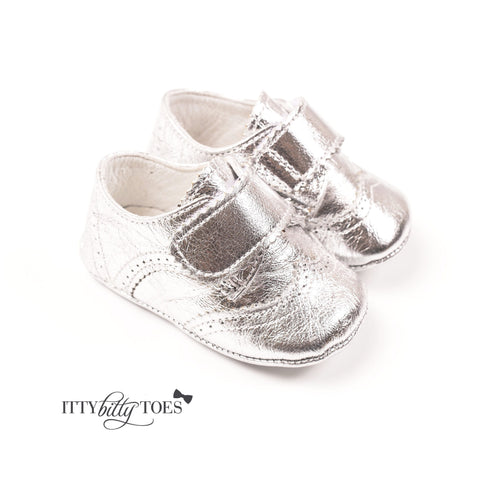 G15-04 Silver - Shoes - Itty Bitty Toes