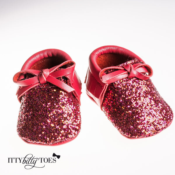 Sparkly Moccs Red