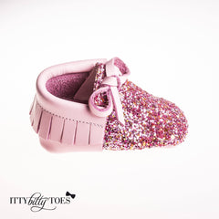 Sparkly Moccs (Pink)