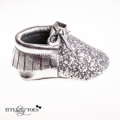 Sparkly Moccs (Silver)