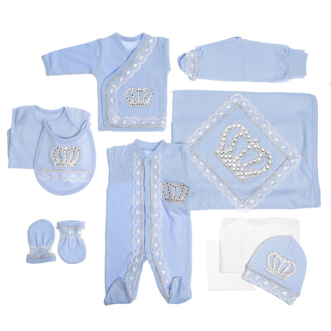 Blue Prince 10 Piece Newborn Set - Itty Bitty Toes  - 4